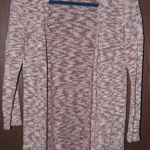 4/$20**Women's lace trimmed burgundy cardigan